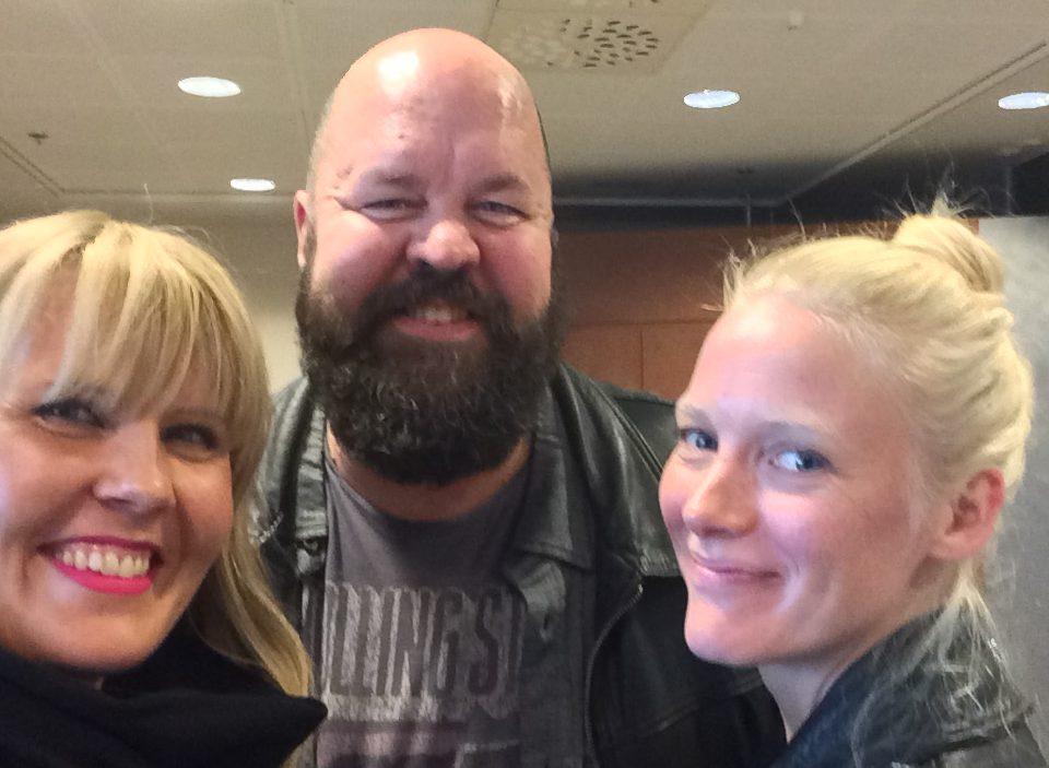 Kuvassa vasemmalta: Alli Haapasalo, Anssi Marttinen ja Laura Birn